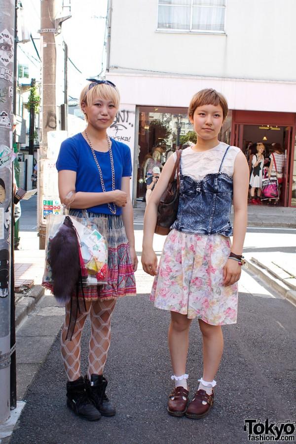 Uni-qlo Top & Santa Monica Skirt vs. Resale Denim & Lace
