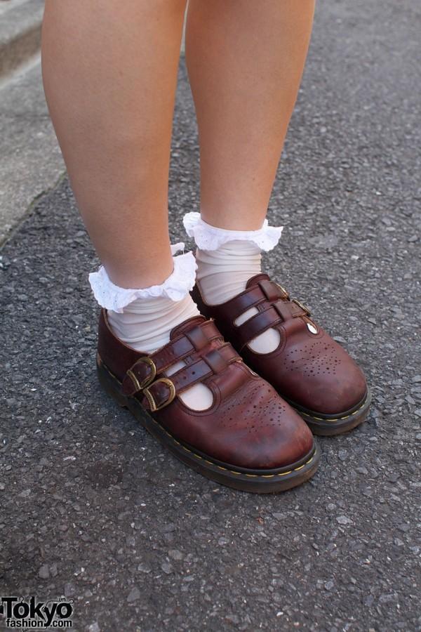 Doctor Martens shoes & lace-trimmed socks