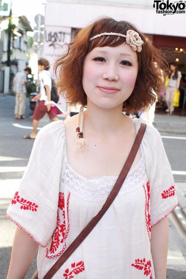 Ethnic dress & crochet headband
