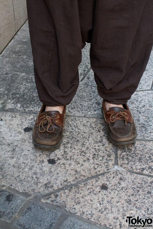 Mararaika pants & leather topsiders