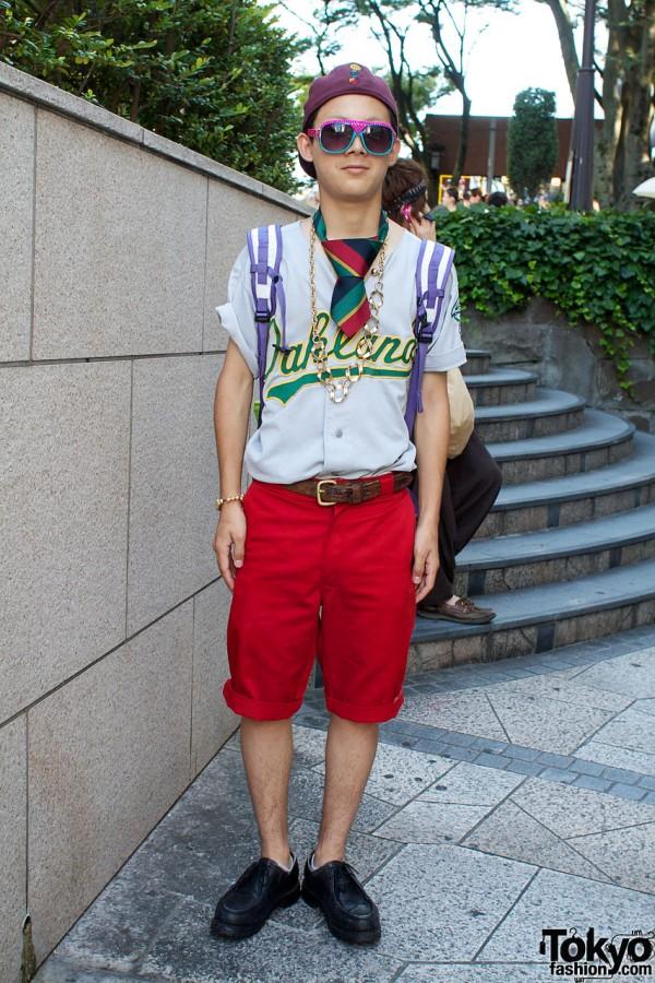 BBT Oakland shirt & Carharrtt shorts