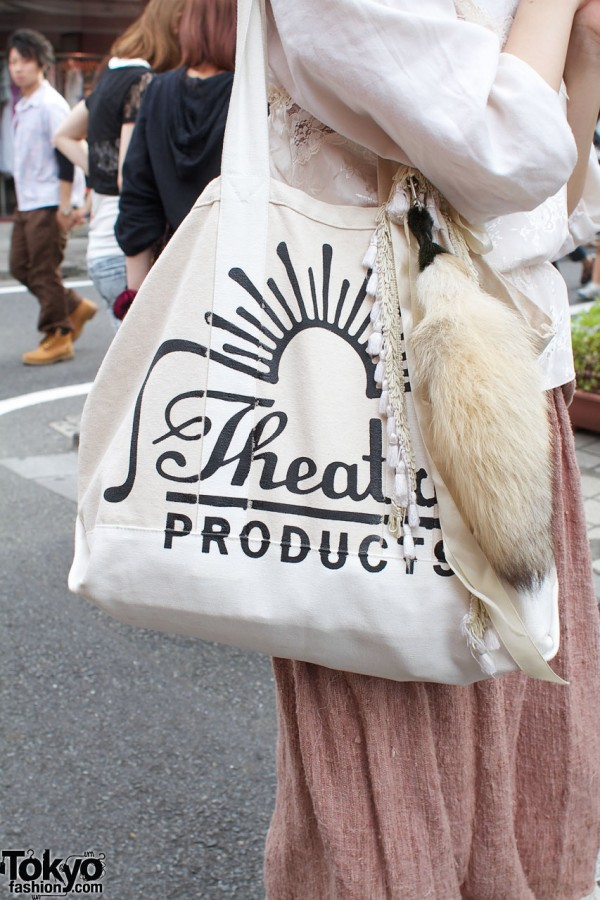 Theater Products bag with fur tail