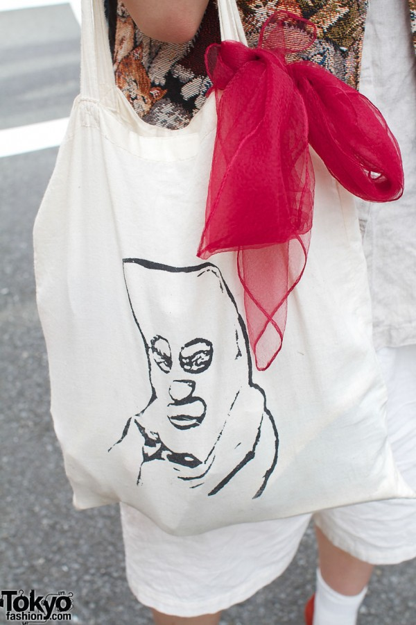 Beyond the Keshiki bag with chiffon scarf