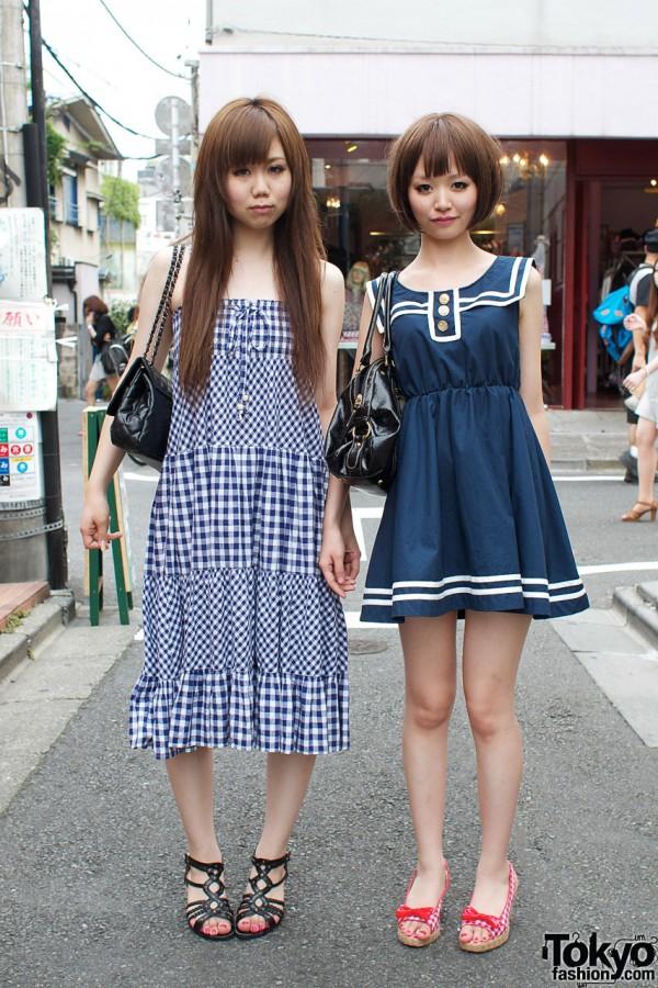 Blue sundresses & Ozoc bags