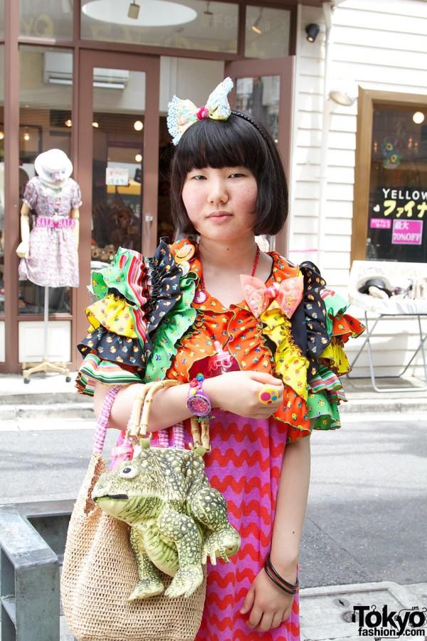 6%DokiDoki dress with ruffled sleeves