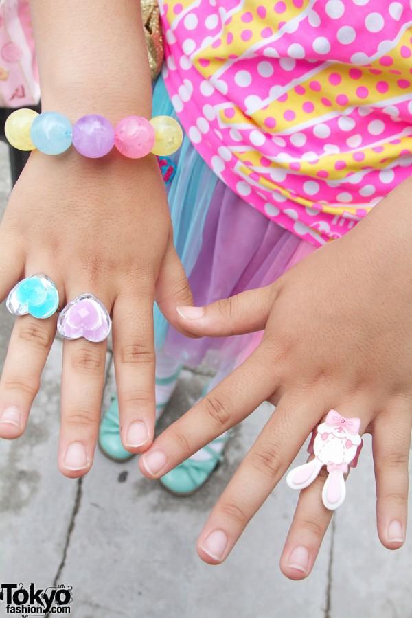 %6DokiDoki pastel rings & bracelet