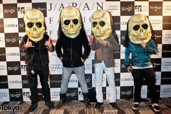 Giant Skull Masks in Tokyo