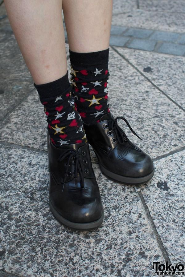 Vivienne Westwood socks & Dr. Martens shoes