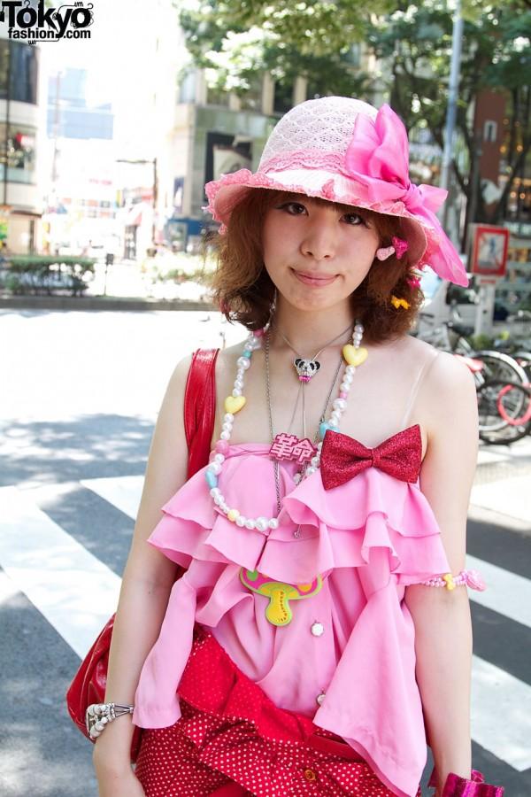 Pink hat & resale blouse