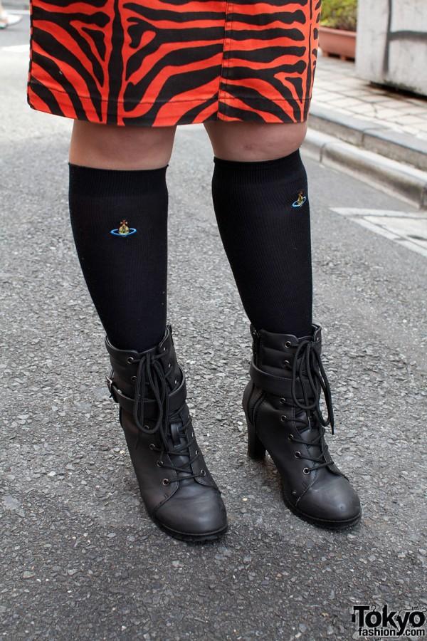 Vivienne Westwood socks & Heather boots