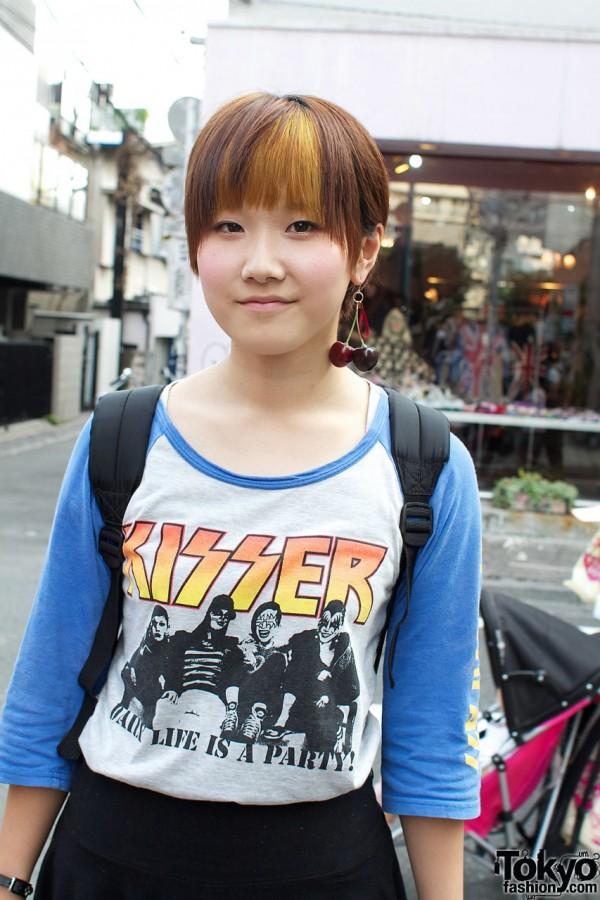 Kisser raglan t-shirt from Kinji