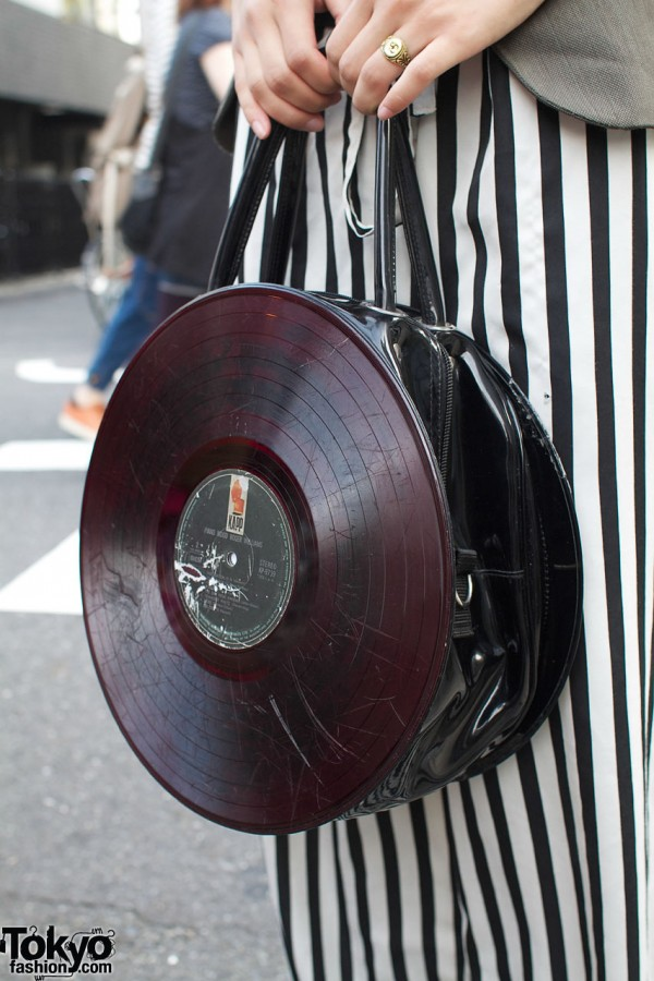 G2? purse made from vinyl record