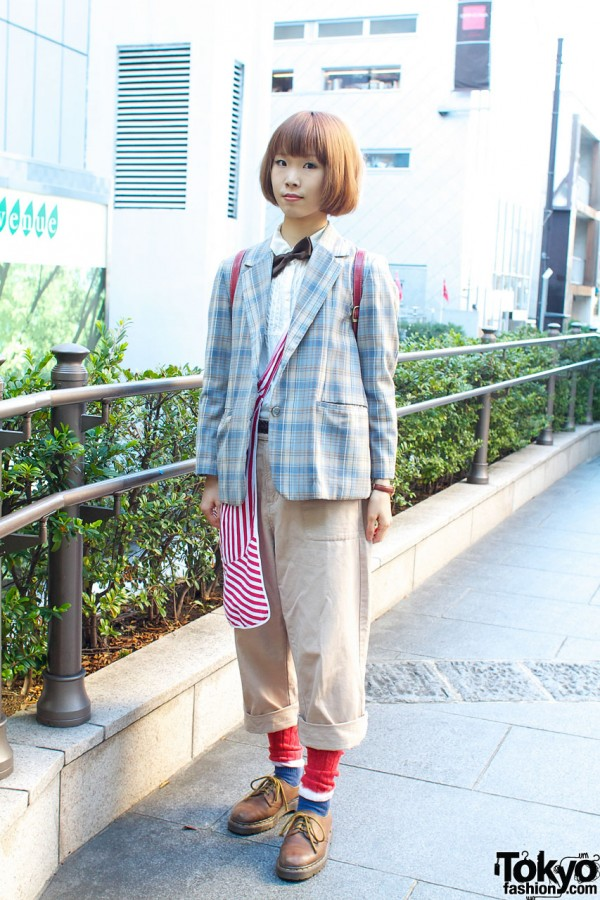 Resale Plaid Jacket with SM2 Top & Bottom