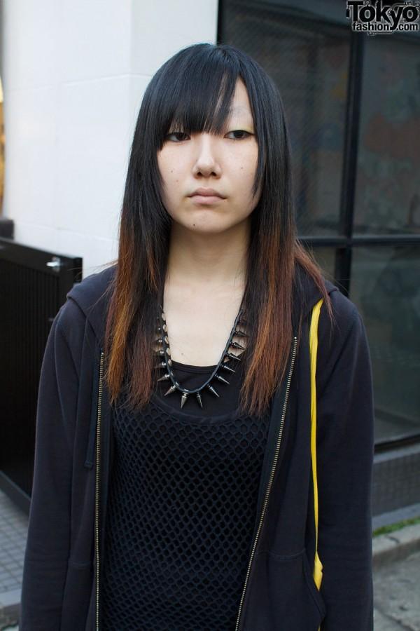 Limi Feu black mesh top