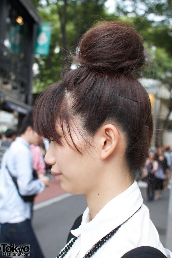 Japanese big hair bun