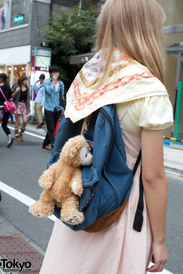 JanSport backpack & teddy bear