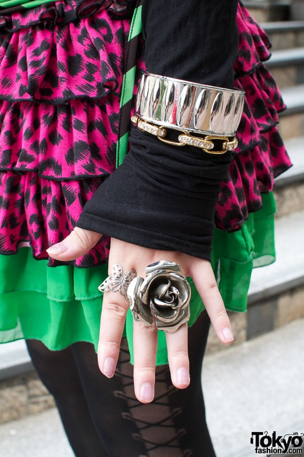 Giant Silver Rose Ring