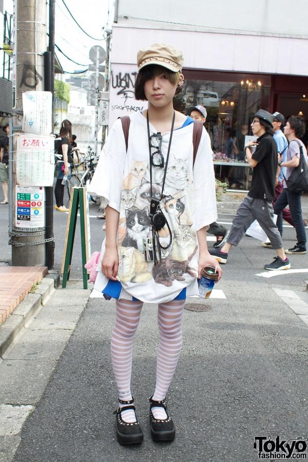 Tokyo Bopper Shoes & LEGO Glasses in Harajuku