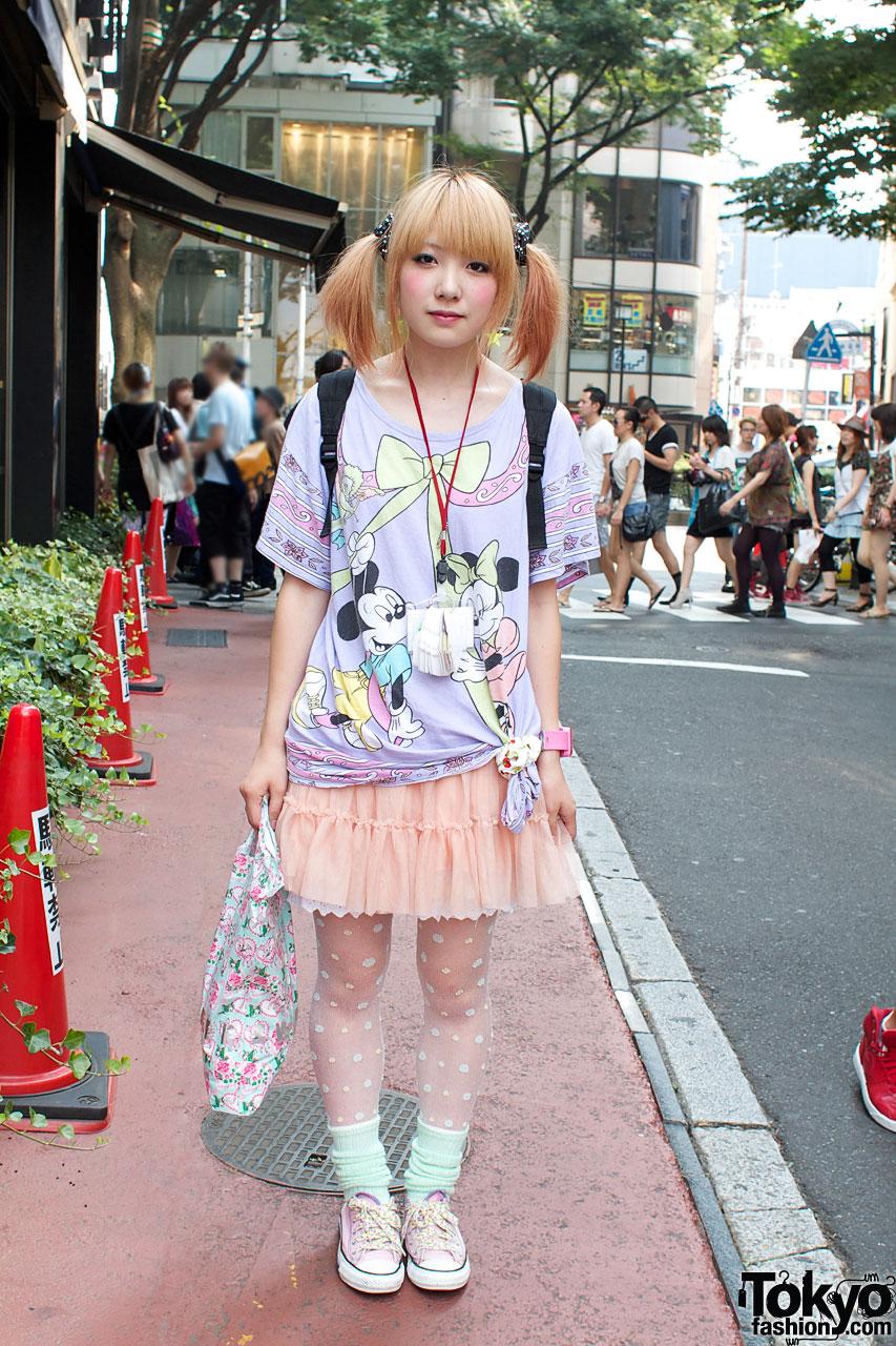 Kinji Shop Girl In Pink Purple In Harajuku