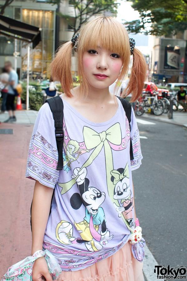 Disney Bow Shirt in Harajuku