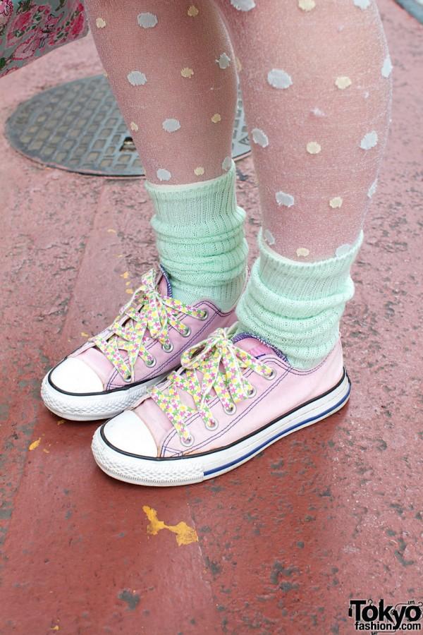 Pink Converse Sneakers Harajuku