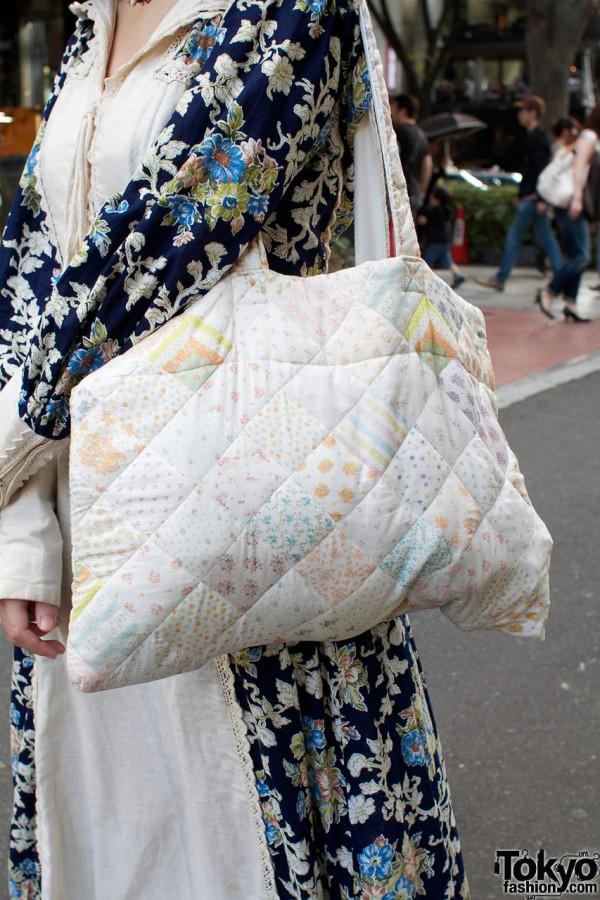 Keisuke Kanda pastel quilted patchwork bag
