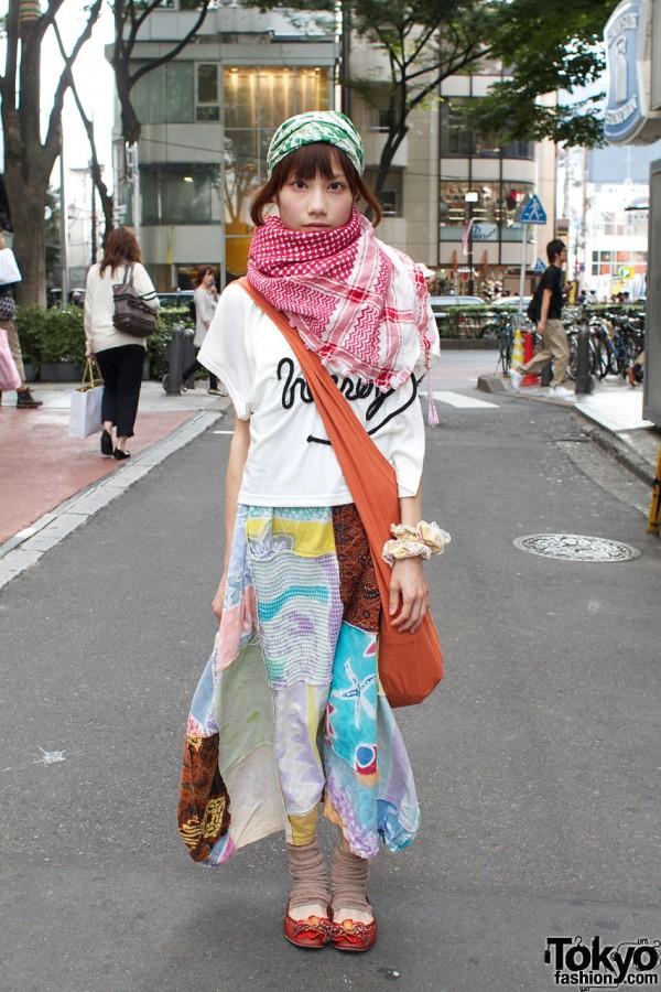 Kinji Patchwork Skirt & Hanjiro Shawl