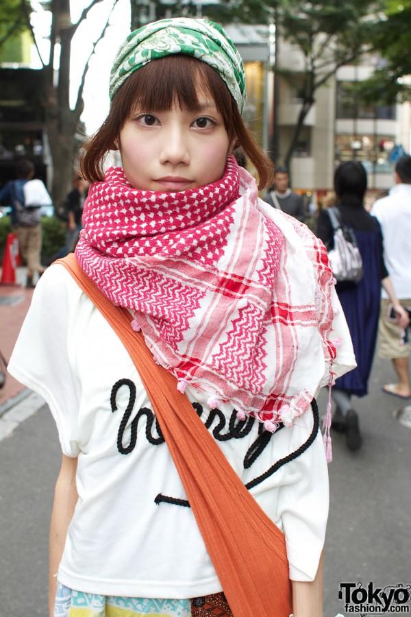 Heather top & Hanjiro shawl
