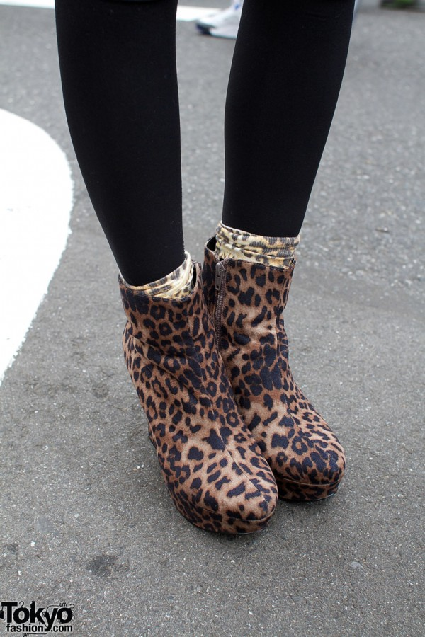 Top Shop cheetah boots