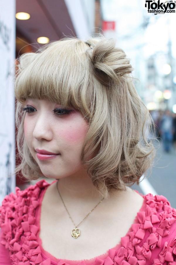 Blonde hair with odango buns
