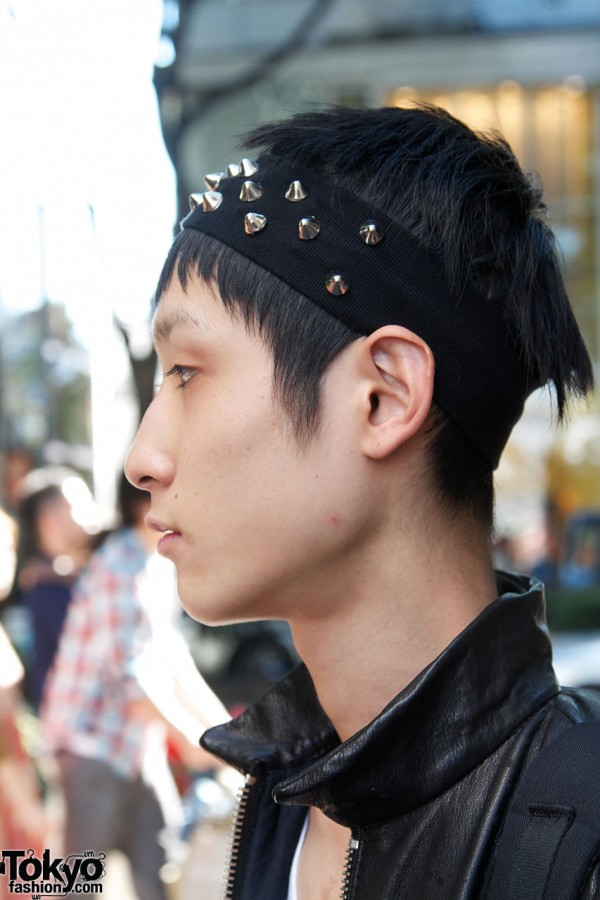 Handmade spiked headband