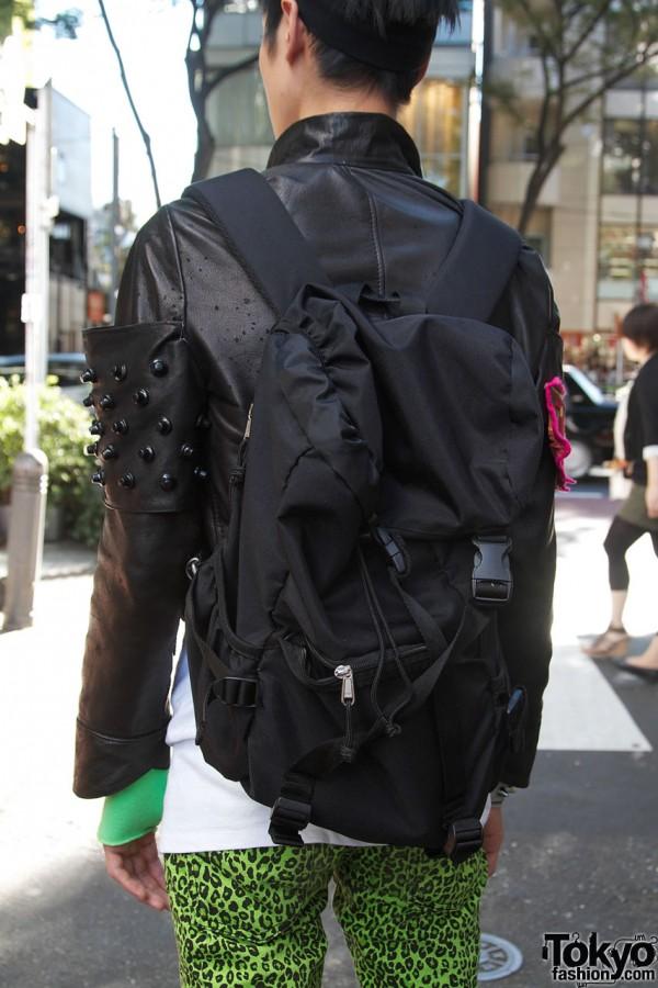 Black Uniqlo backpack