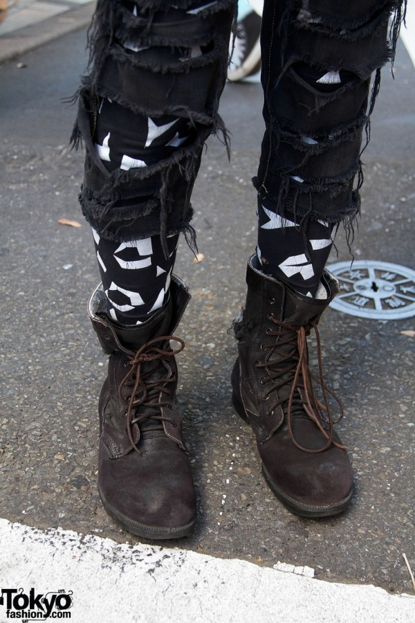 Remade Uniqlo pants & work boots