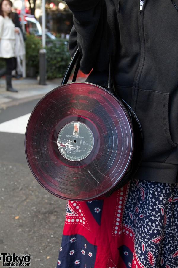 G2 Record Bag Amp Vintage Brocade Vest