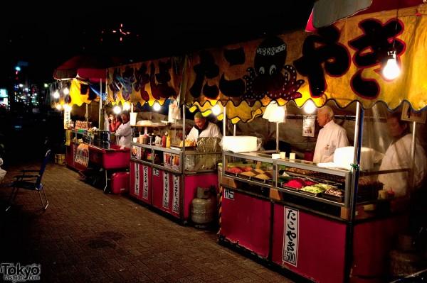 Street Food Stands in Tokyo