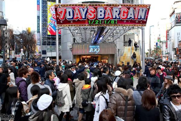 Shibuya 109 New Years Sale
