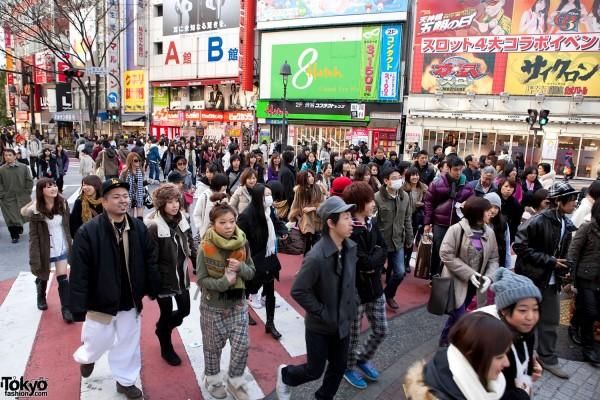 Shibuya Shopping Crowds