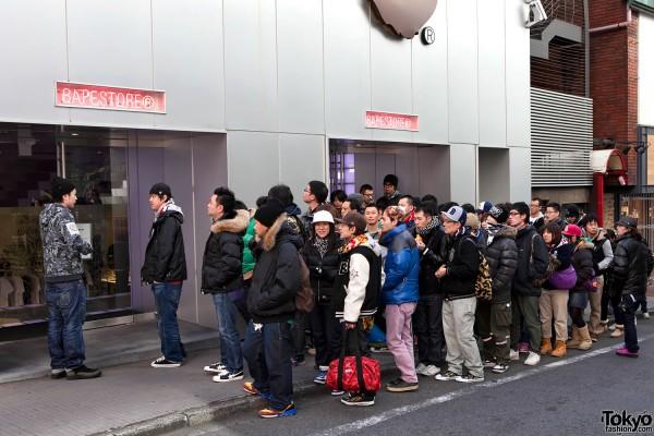 BAPE Shibuya Sale Line