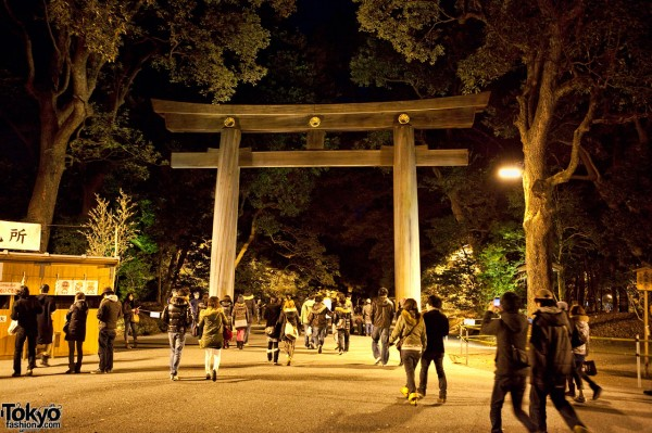 Meiji Shrine New Years Eve