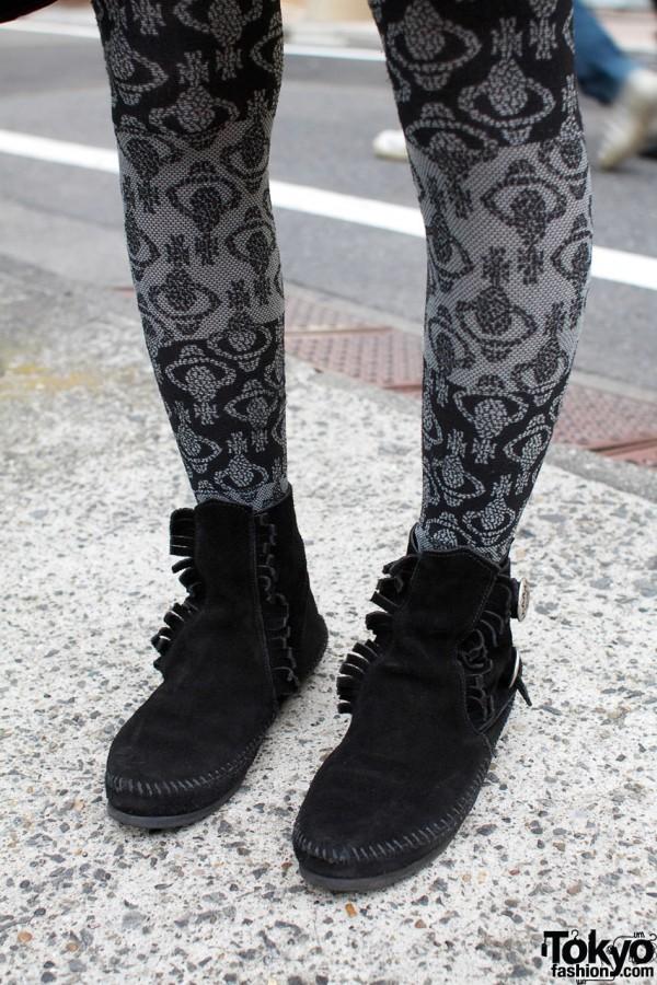 Minnetonka moccasins & Vivienne Westwood stockings