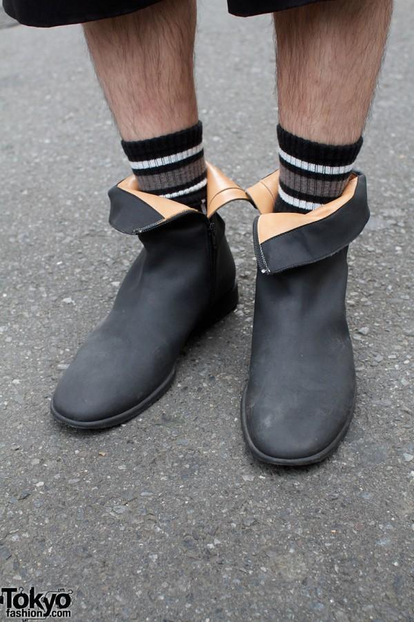 Martin Margiela boots & striped socks