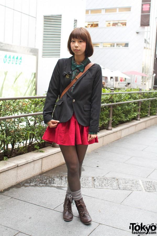 Blazer, Bow Tie & Miniskirt