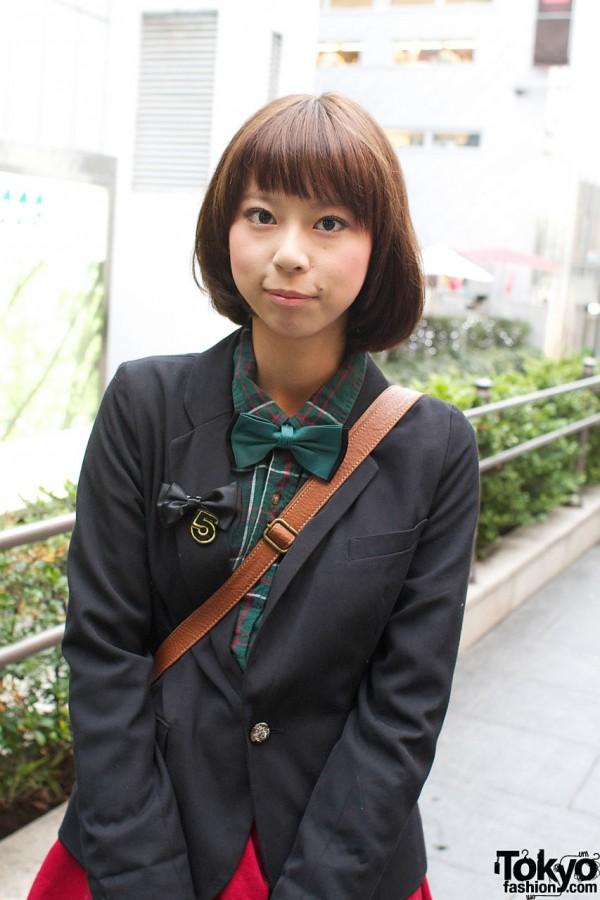 Green noeud papillon, chemise à carreaux et blazer
