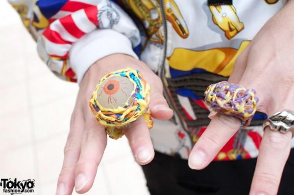 Handmade plastic rings