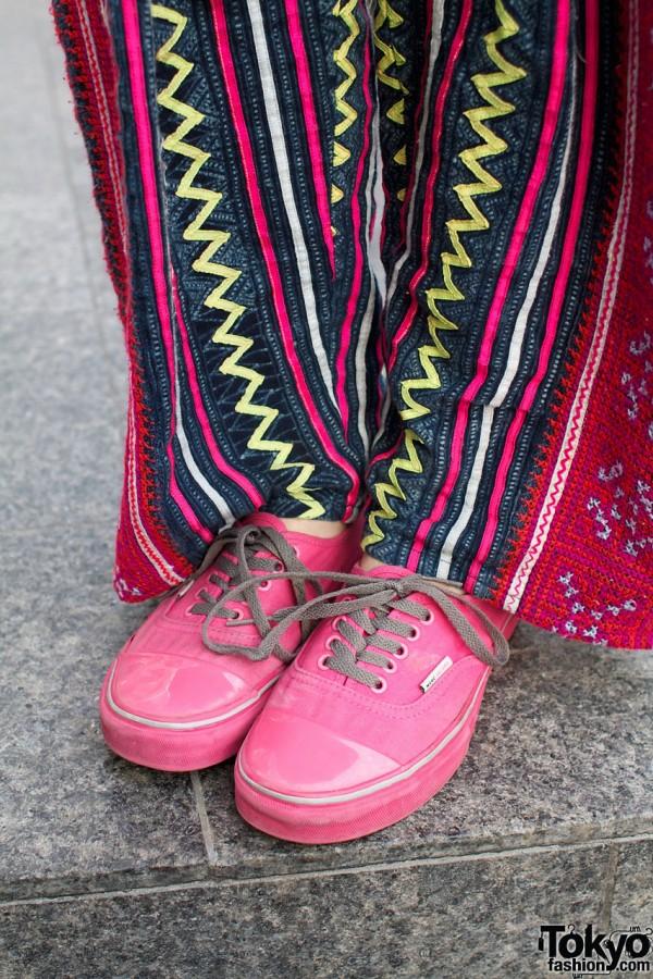 Striped pants & Marc Jacobs shoes
