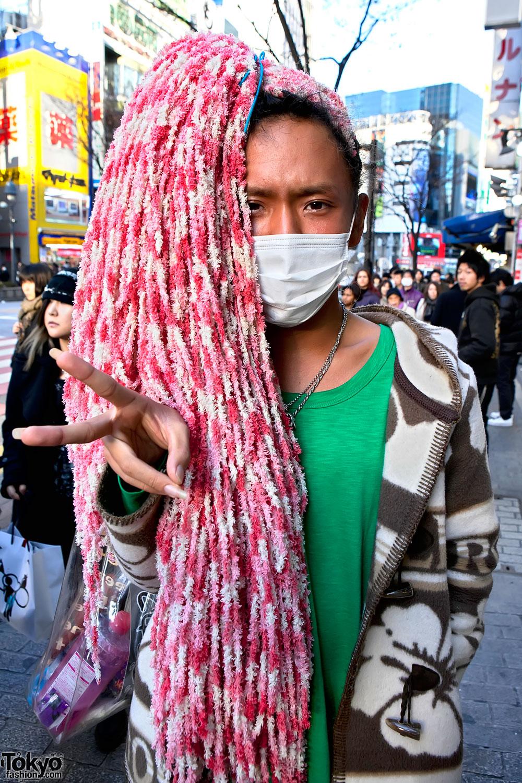 Old School Ganguro Wearing Alba Rosa In Shibuya