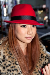 Shibuya Girl in Red Hat