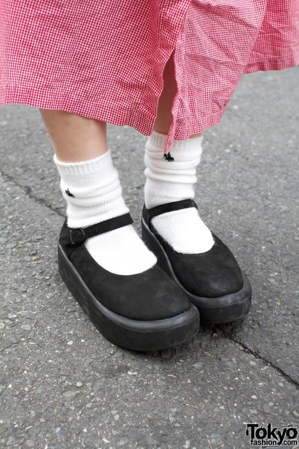 White socks & Tokyo Bopper Mary Jane shoes