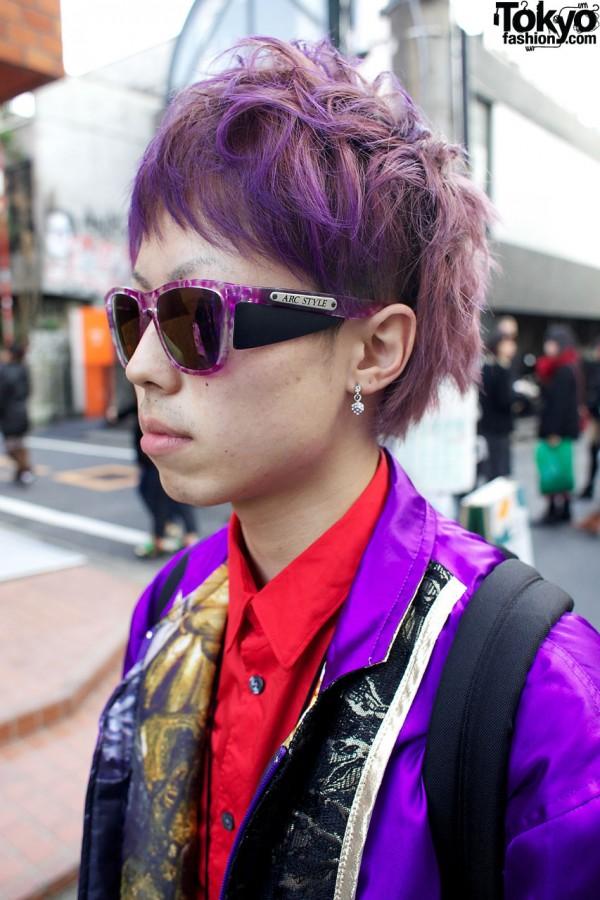Purple Arc Style sunglasses