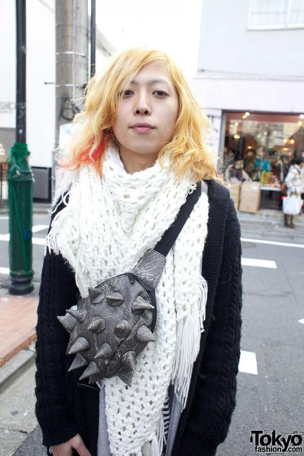 Resale crochet scarf & bag